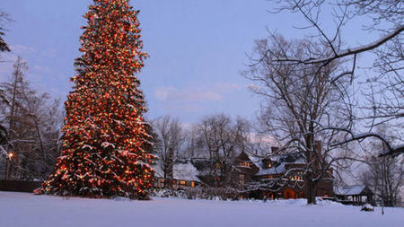 A Magical Winter Weekend at Blantyre, in the Berkshires