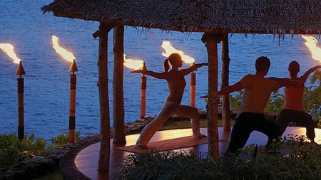 Night Fire Yoga at Four Seasons Jimbaran Bay, Bali