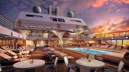 Seabourn Encore Touches Water for First Time Today