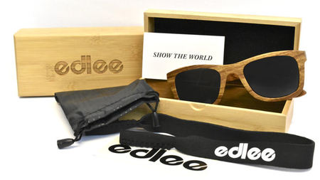 edlee Floating Bamboo and Wood Sunglasses Perfect for the Beach
