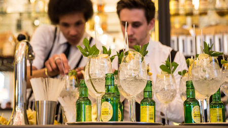 Green Bar Botanicals & Tonics at Hotel Café Royal, London