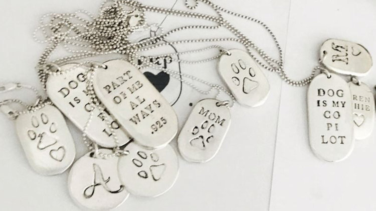 Kate Holmes Design - Hand Cast Sterling Silver Pendants for Dog Lovers