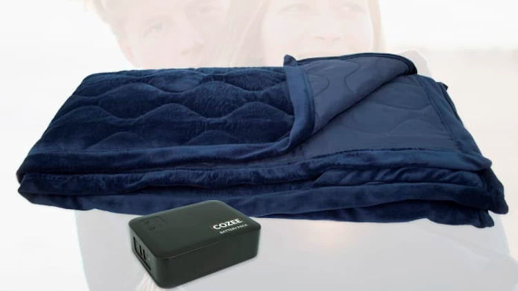 The Cozee The First Battery Powered Heating Blanket On The Market