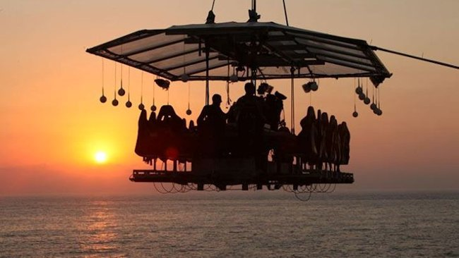 Dinner in the Sky at Hotel Cipriani, Venice