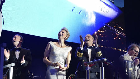 Princess Charlene of Monaco Christens Most Luxurious Ship Ever Built