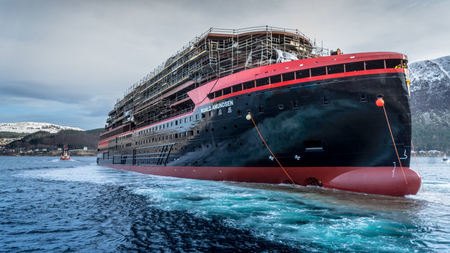 Hurtigruten Launches the World's First Hybrid Ship in Norway