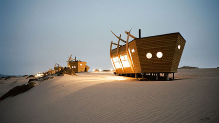 Shipwreck Lodge Hits Shores of Namibia's Skeleton Coast