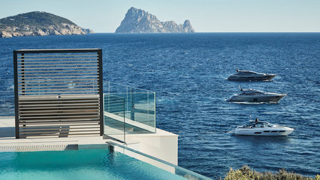 Pershing Yacht Terrace at the 7Pines Resort in Ibiza