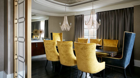 Inside the Presidential Suite at DC's The Mayflower Hotel