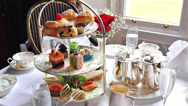 Mrs. White's New Afternoon Tea Menu at Dromoland Castle