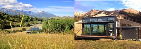 Sleep in an All-Glass Cabin in the New Zealand Countryside