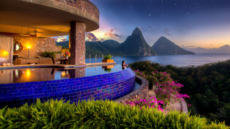 Summer Romance with a View at Jade Mountain, St.Lucia