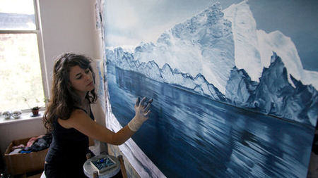 Lindblad Expeditions Visits Antarctica with Landscape Artist Zaria Forman