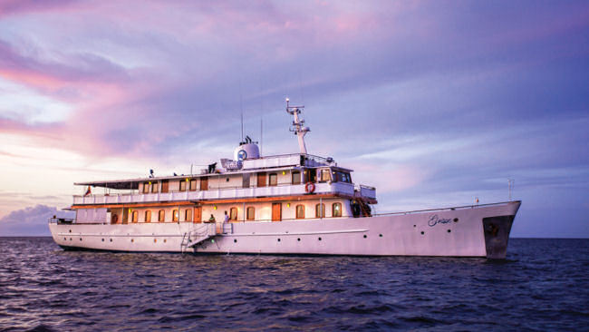 Cruise the Galapagos Aboard Grace Kelly's Royal Honeymoon Yacht