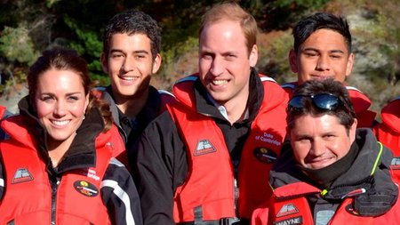Duke and Duchess of Cambridge enjoy adrenalin thrills on the world's most exciting jet boat ride