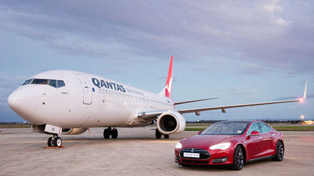 Qantas and Tesla Go Head-to-Head in Jet vs. Car Race