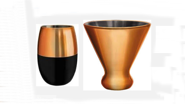 In Time for Summer & Father's Day Gift, NEW Copper Cups Chill Favorite Wine or Cold Beverage