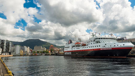 Hurtigruten Christens New Explorer Ship MS Spitsbergen North of the Arctic Circle