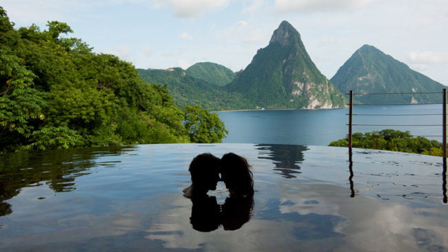 Love is in the Air at Jade Mountain, St Lucia