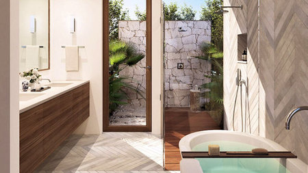 5 Resorts with Stunningly Chic Outdoor Showers
