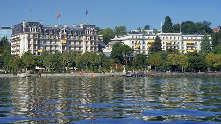 The Beau-Rivage Palace, the Iconic Swiss Resort in Lausanne, Reopens