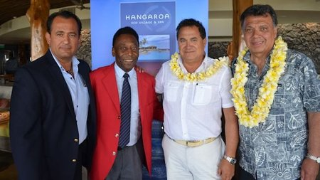 Soccer Legend, Pelé Visits Easter Island to Launch New Stadium