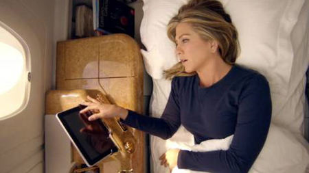 Jennifer Aniston Stars in Emirates A380 Ad
