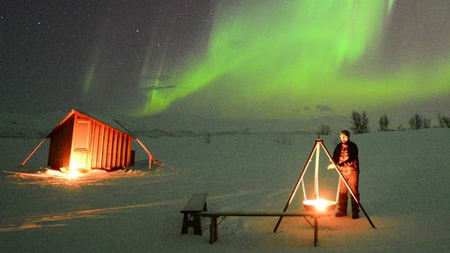 View the Northern Lights from an Ice Hut in Sweden