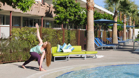 Poolside 'Serene Summer Yoga Series' at Hotel Valley Ho, Scottsdale