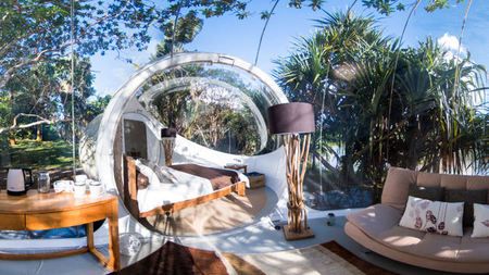 Stay in a Bubble Hotel in the Mauritius Jungle