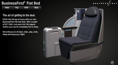 Continental Airlines Installs New Flat-Bed BusinessFirst Seats