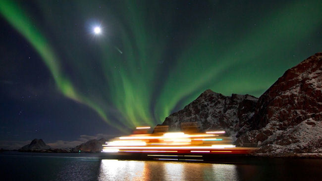 Experience a Northern Lights Voyage with Hurtigruten