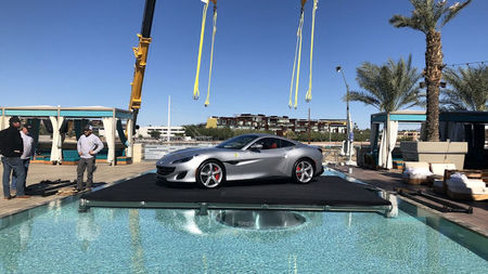 W Scottsdale Creates Insta-Moment by Lifting Ferraris onto Rooftop