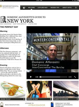 InterContinental Hotels Launches iPad App Packed with Concierge Advice