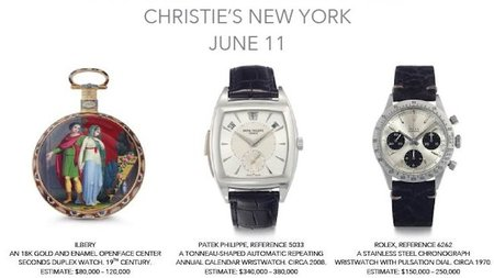 Important Watches Offered at Christie's New York