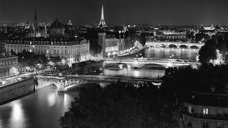 The Glow of Paris: The Bridges of Paris at Night