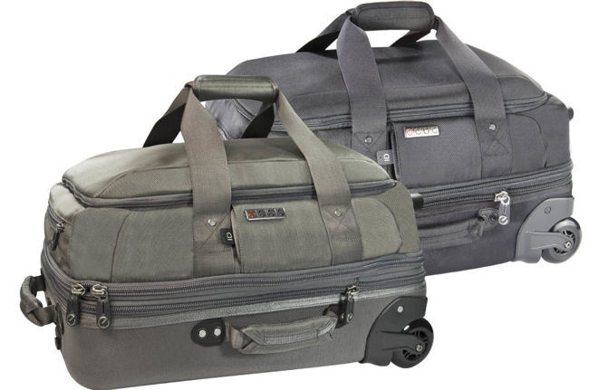 ecbc Falcon Wheeled Duffle carry-on with TSA-friendly FastPass® System