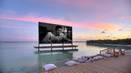 A Cinema in Paradise at Soneva Jani, Maldives