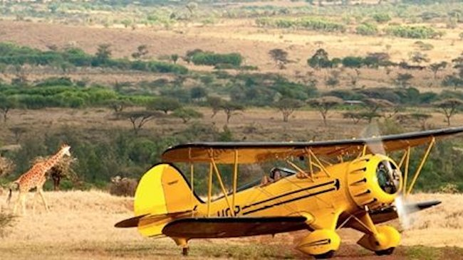 Lewa Wilderness biplane