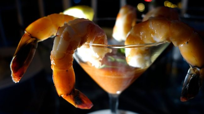 La Valencia Hotel shrimp cocktail