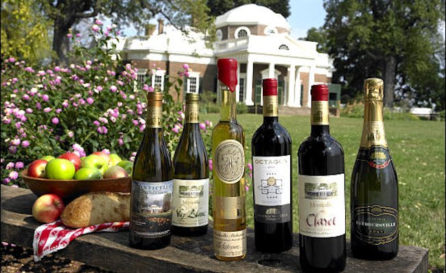Barboursville wines at Monticello