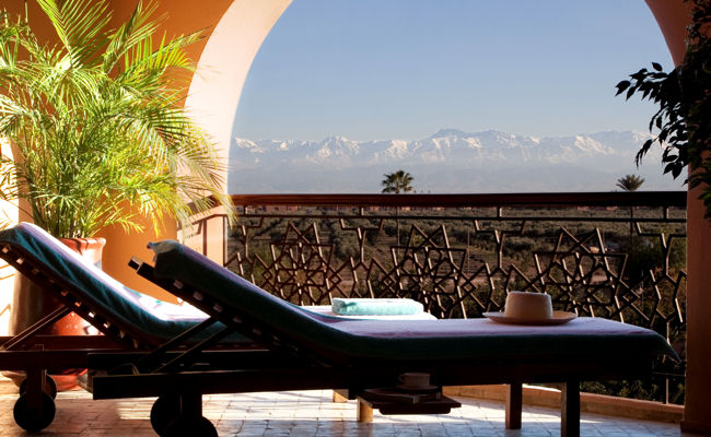 Es Saadi terrace suite and Atlas Mountain view