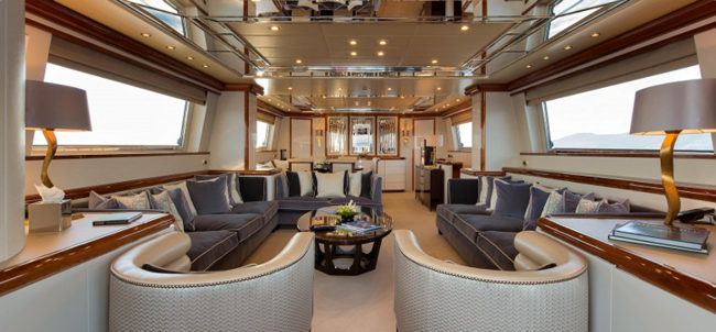 Wellesley yacht interior