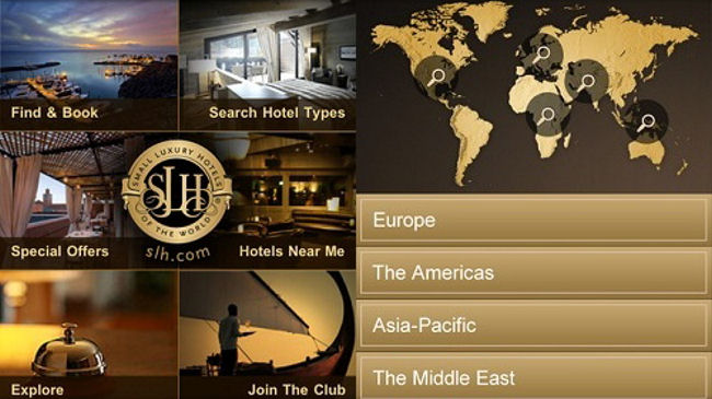Small luxury hotels of the world launches new iphone app for Slh of the world