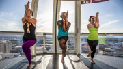 Yoga on the High Roller in Las Vegas