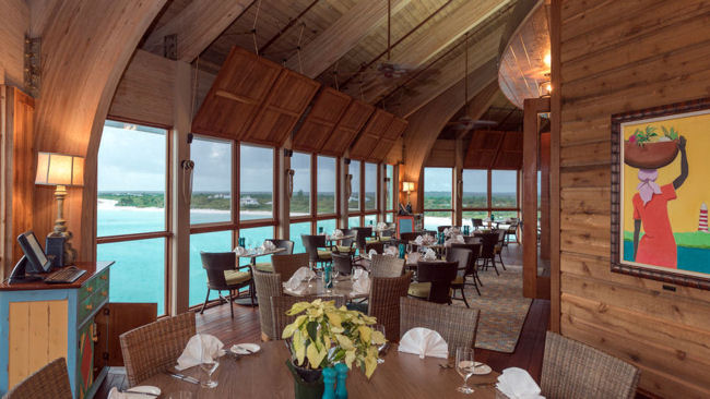The Abaco Club Cliff House restaurant