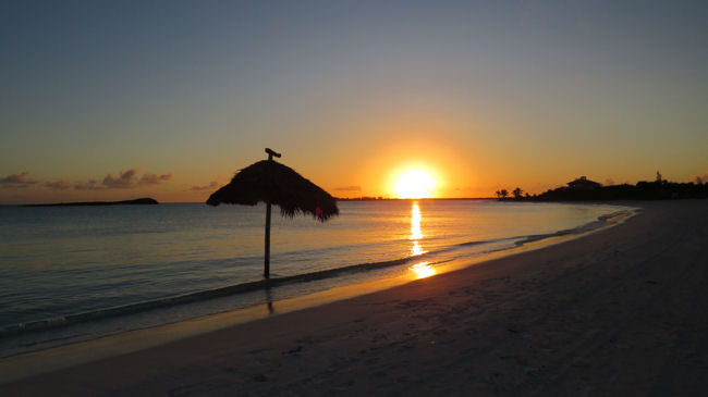 The Abaco Club on Winding Bay beach sunset