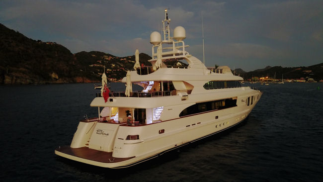 superyacht BINA in the Caribbean