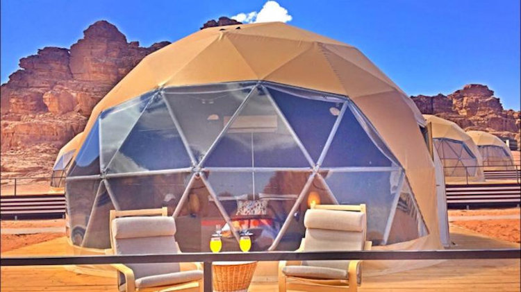 glass dome hotel room