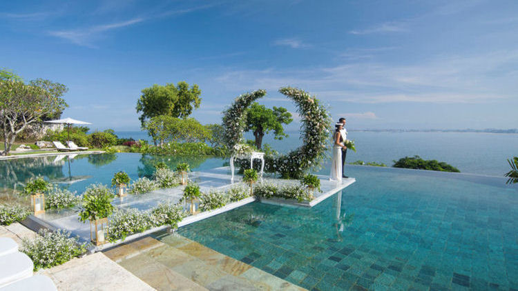 Bali S Longest Overwater Wedding Aisle At Four Seasons